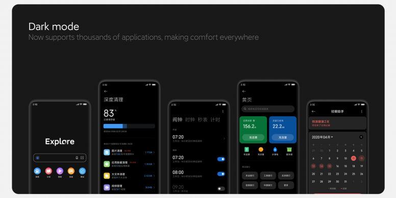The Dark Mode 2.0 on MIUI 12 brings wallpaper dimming