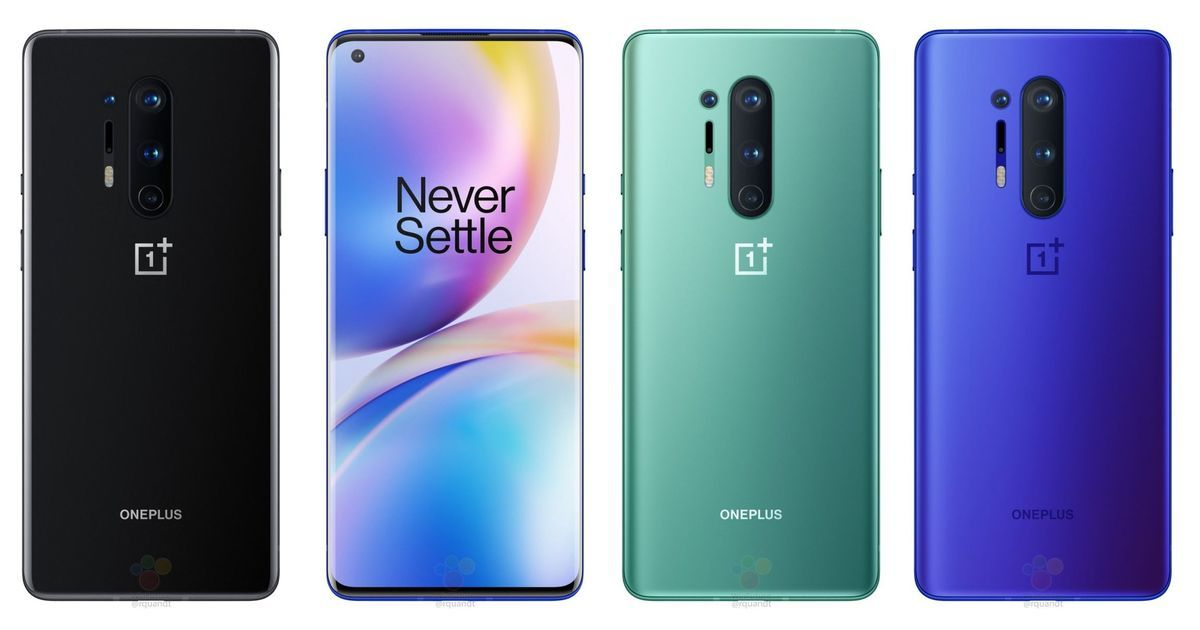 OnePlus 8 Pro official renders leaked, new 'Ultramarine Blue' colour variant revealed