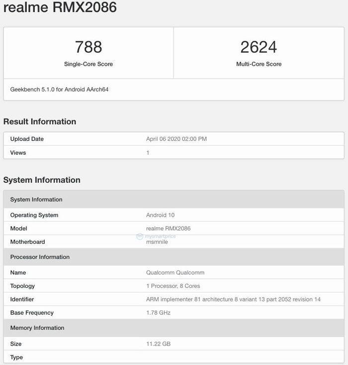 Realme-X3-SuperZoom-Geekbench