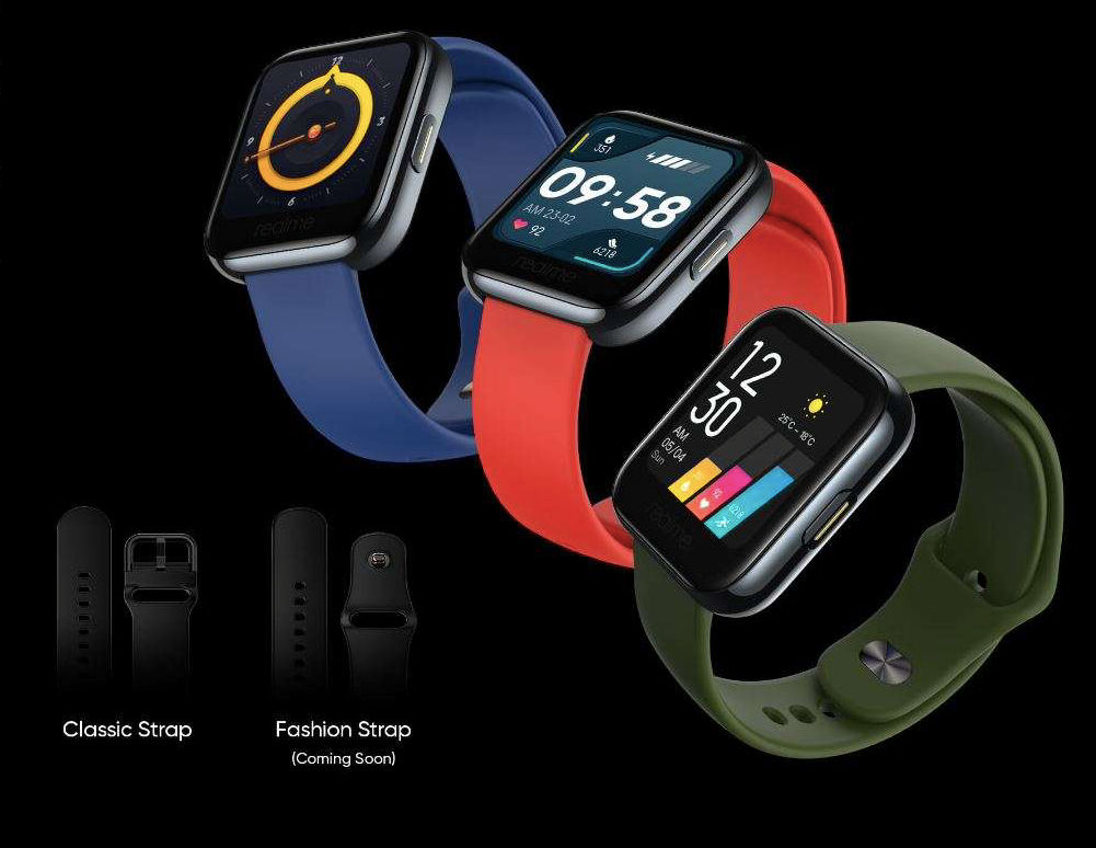 The Realme Watch comes with two strap options including Classic and Fashion