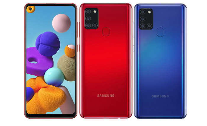 The Samsung Galaxy A21s is being offered in Black, White, Blue and Red colours