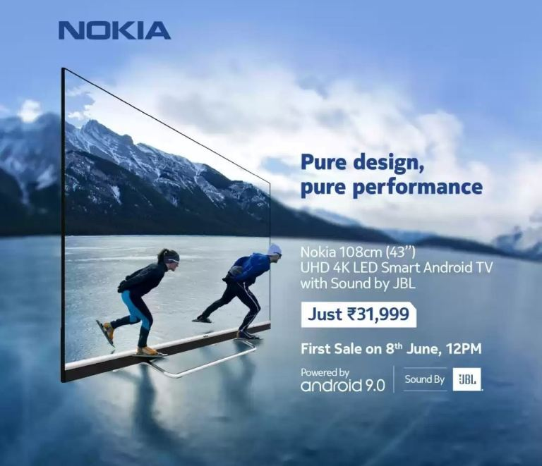 The Nokia TV 43-inch will go on sale in India starting June 8th at 12pm