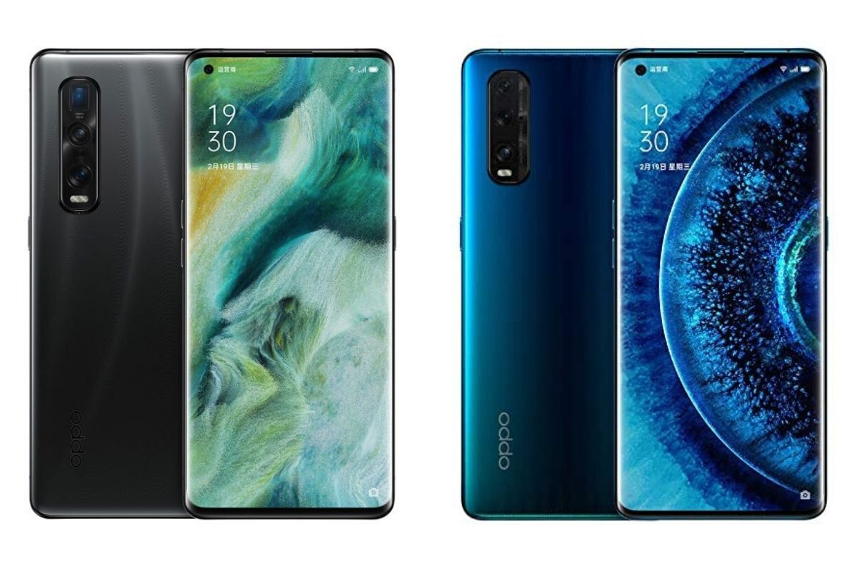 OPPO Find X2 Pro (left) and Find X2 (right)-