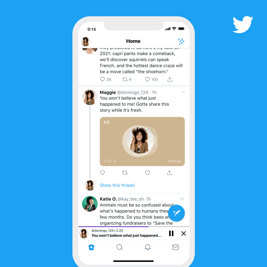 Twitter will soon let you post voice tweets