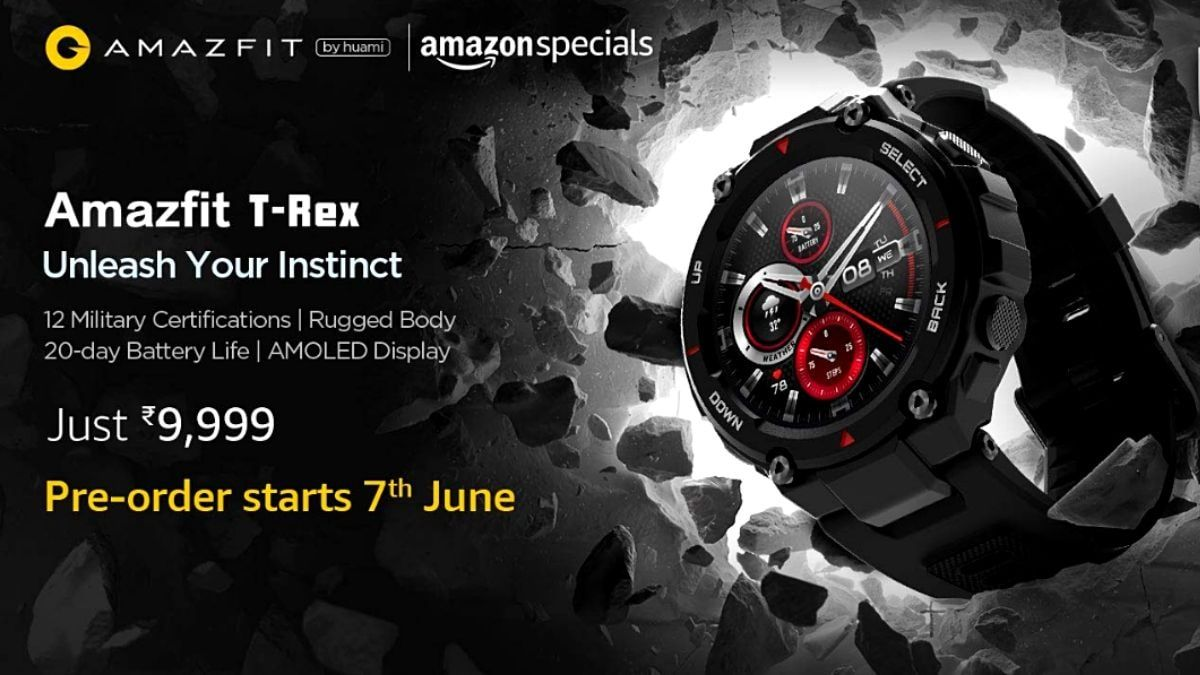 The sale date of Amazfit T-Rex in India is not known as of now