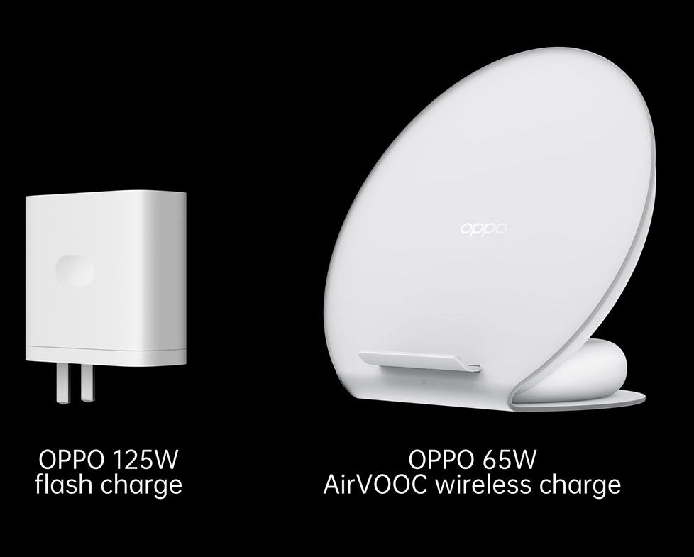 The OPPO 125W flash charge and 65W AirVOOC wireless charge are the industry fastest