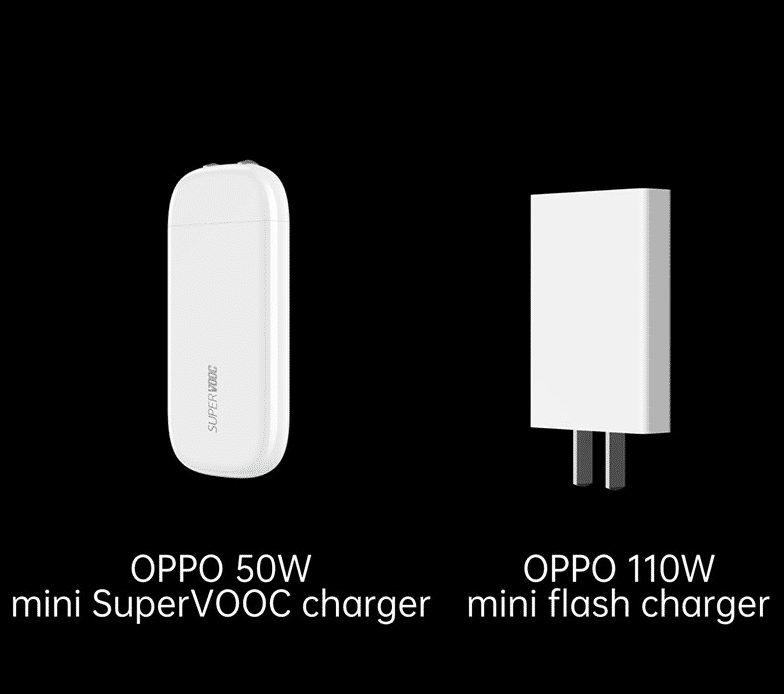 The OPPO 50W mini SuperVOOC Charger is the size of a business card case