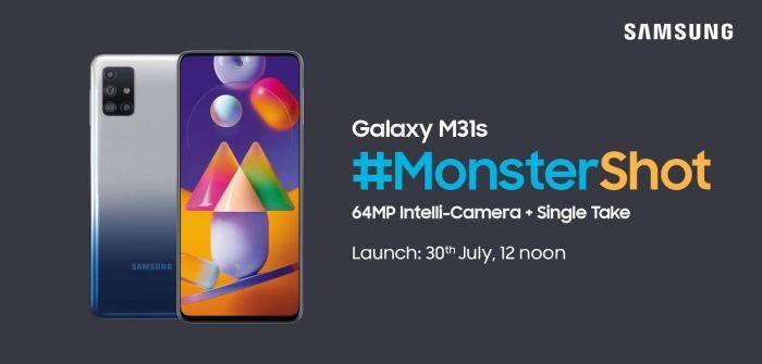 Samsung Galaxy M31s Amazon India microsite