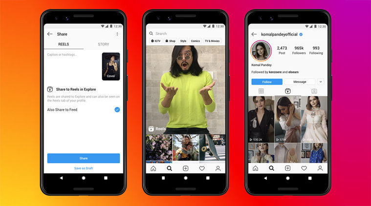 Instagram Reels is now rollong out to select users in India