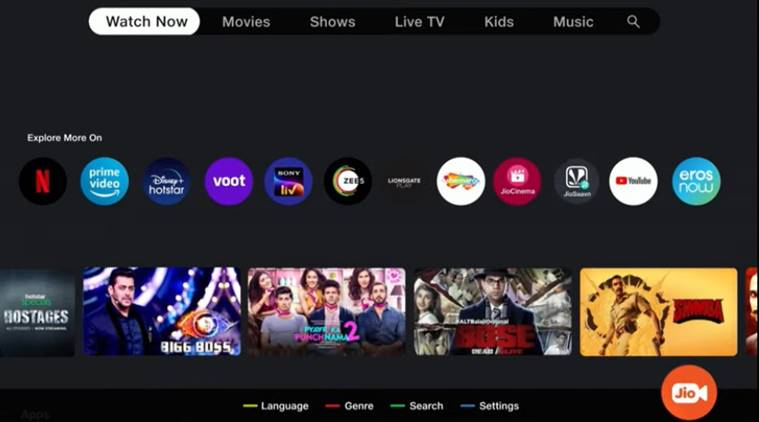 The Jio TV+ is the content aggregator for Jio TV set-top box