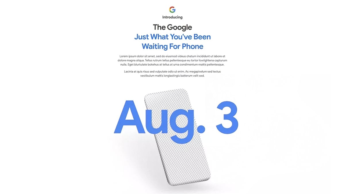 Google confirms Pixel 4A launch on August 3rd