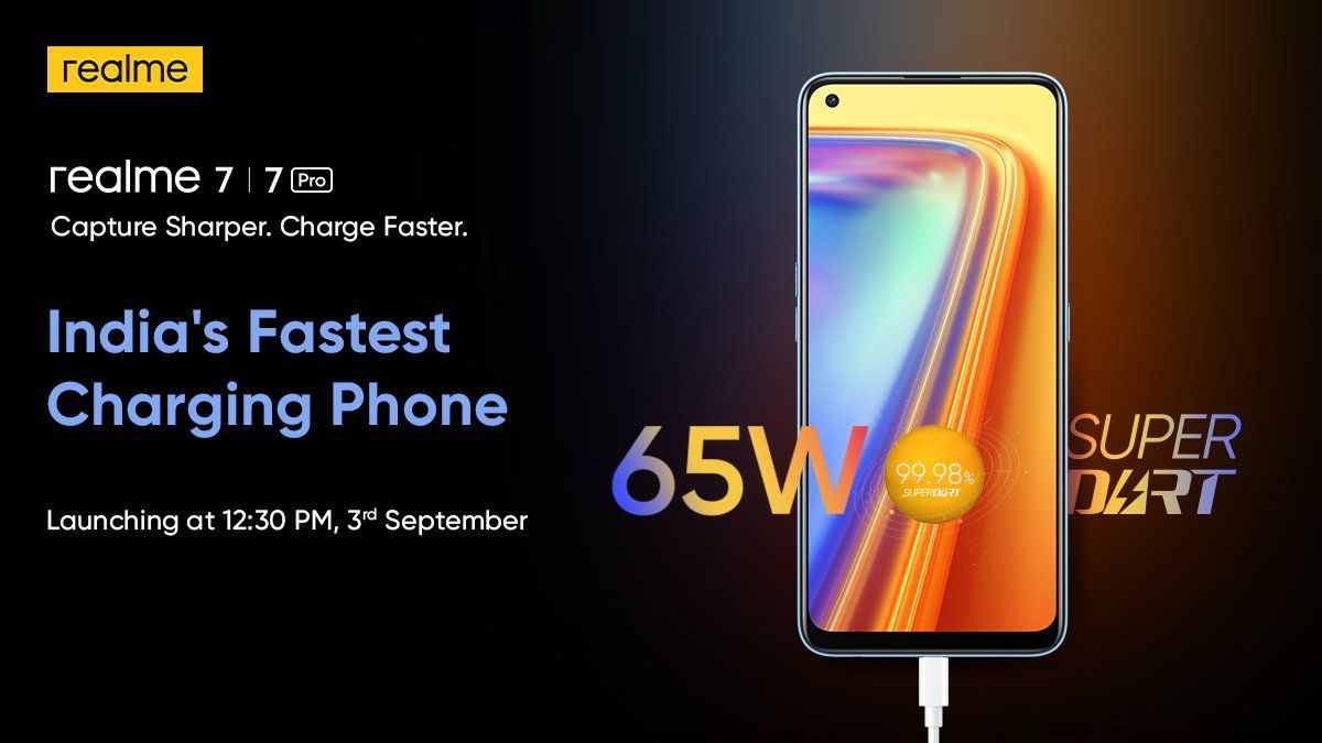 Realme 7 series September 3 launch in India-