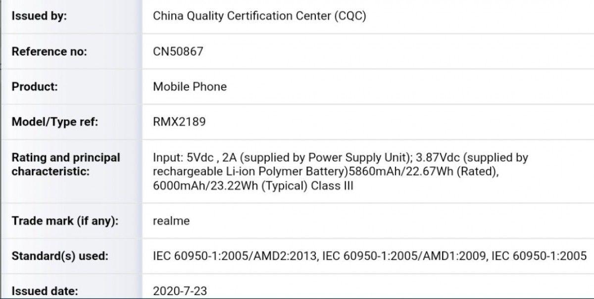 Realme C12 RMX2189 CQC