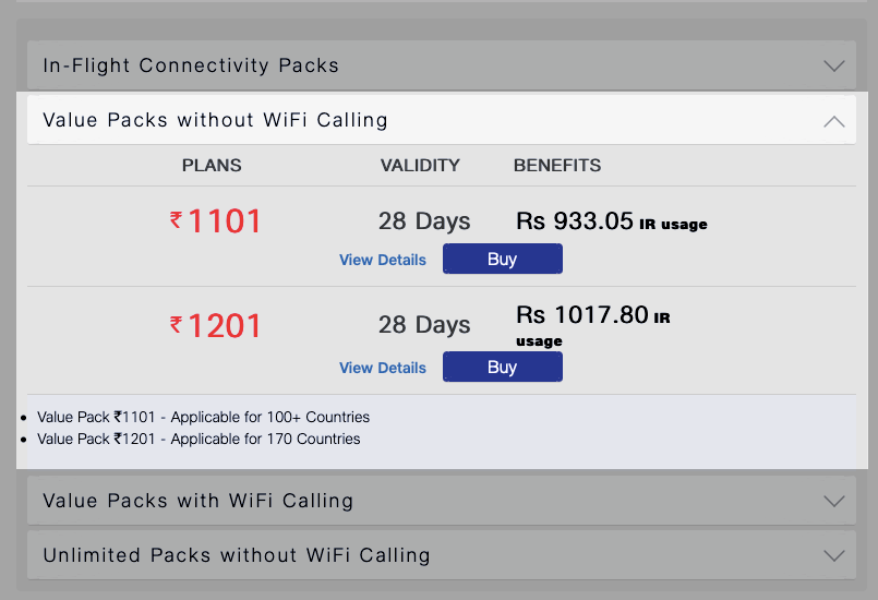 Jio value packs without Wi-Fi calling starts from Rs 1,101