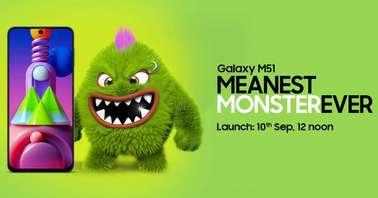 Samsung Galaxy M51 September 10 India Launch