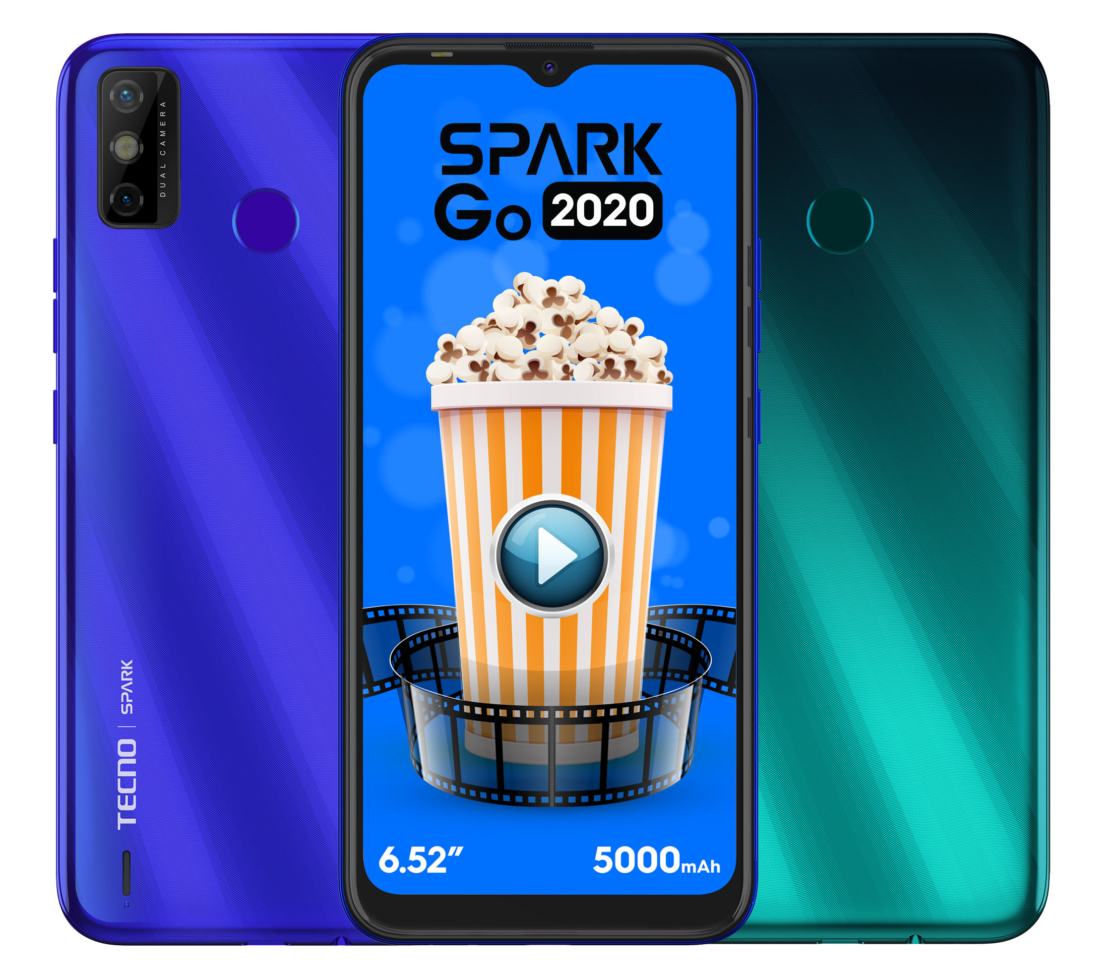 The Tecno Spark Go 2020 comes with the MediaTek Helio A20 and 13MP dual AI cameras