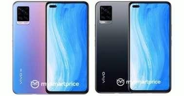 Vivo V20 black and blue-pink gradient-