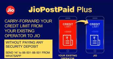 Jio allows existing customer of other telcos to carry forward their credit limit
