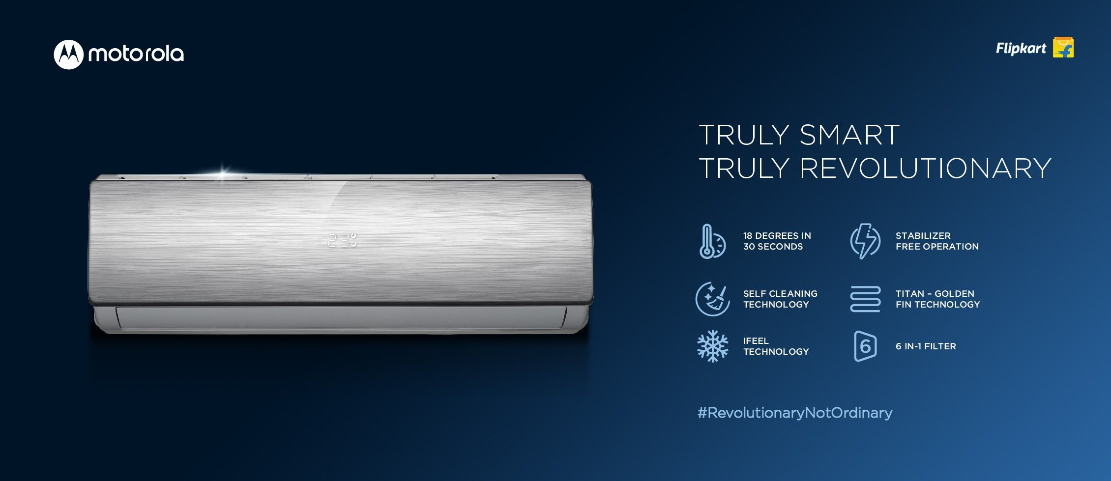 Motorola has launched a total of five air conditioners in India