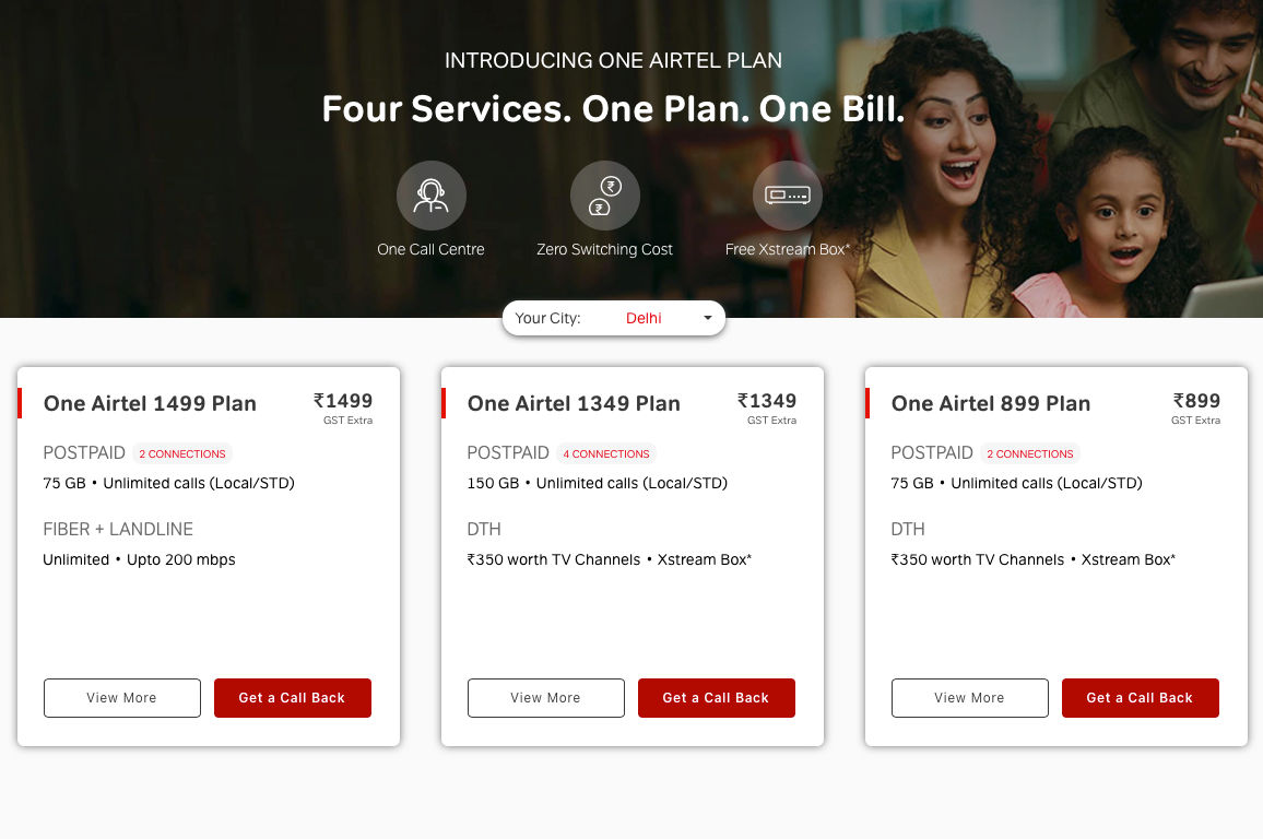 Airtel has expanded its One Airtel plans to Mumbai as well
