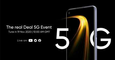 Realme 7 5G November 19 launch=