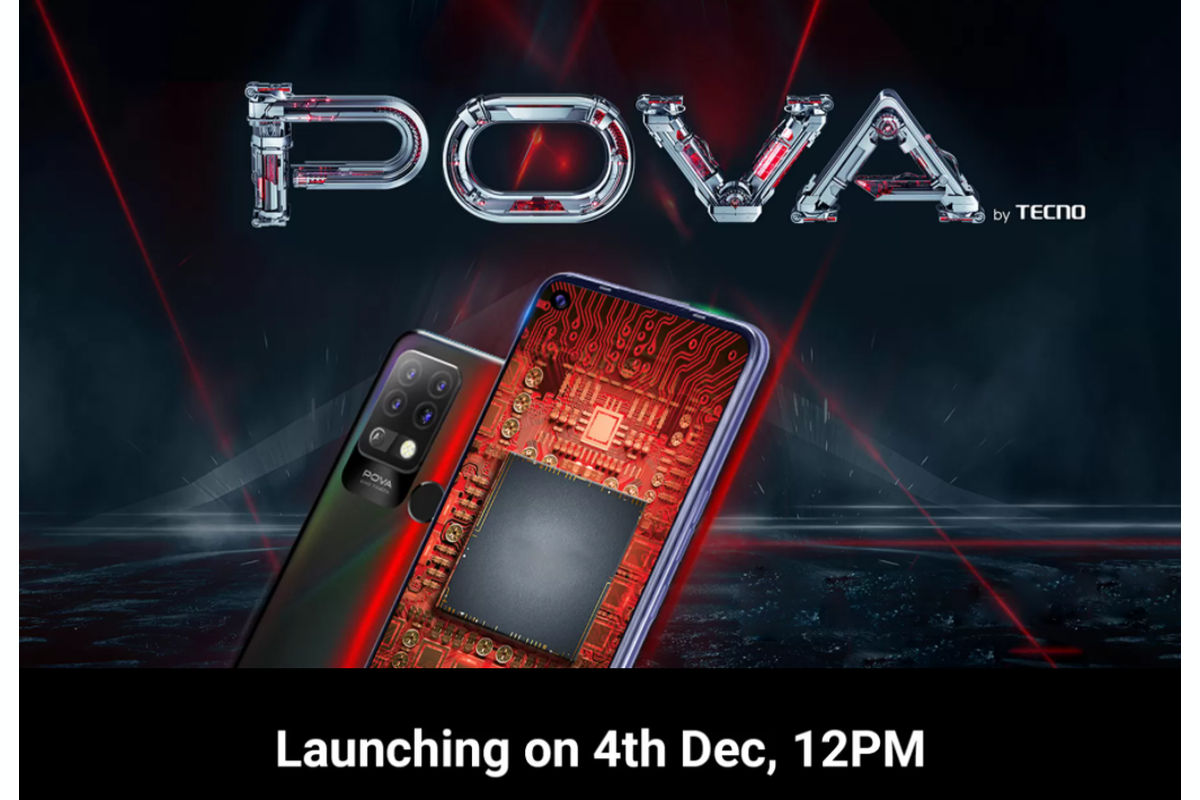 Tecno Pova December 4 India launch date-