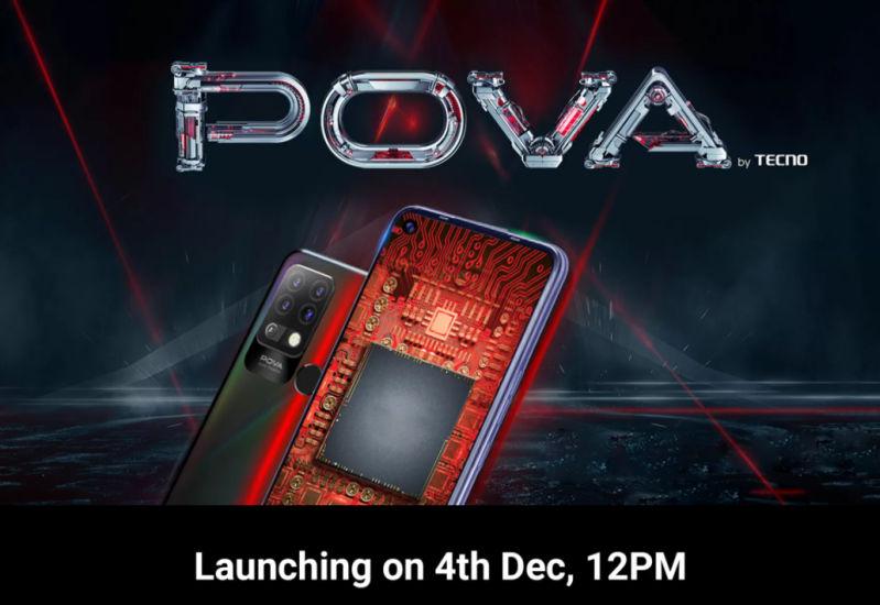 Tecno Pova launch in India set for December 4th
