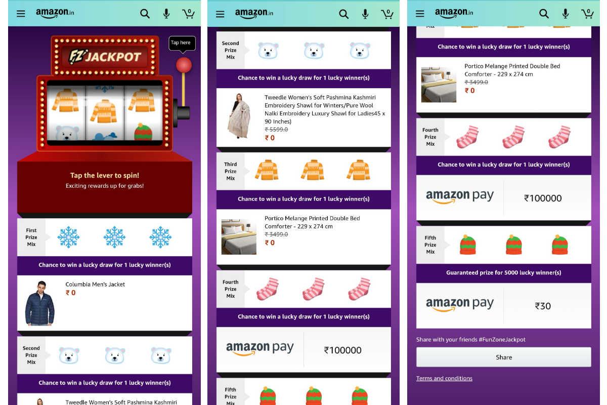 Amazon Funzone Jackpot Winter Edition