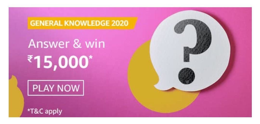 Amazon General Knowledge 2020 Quiz