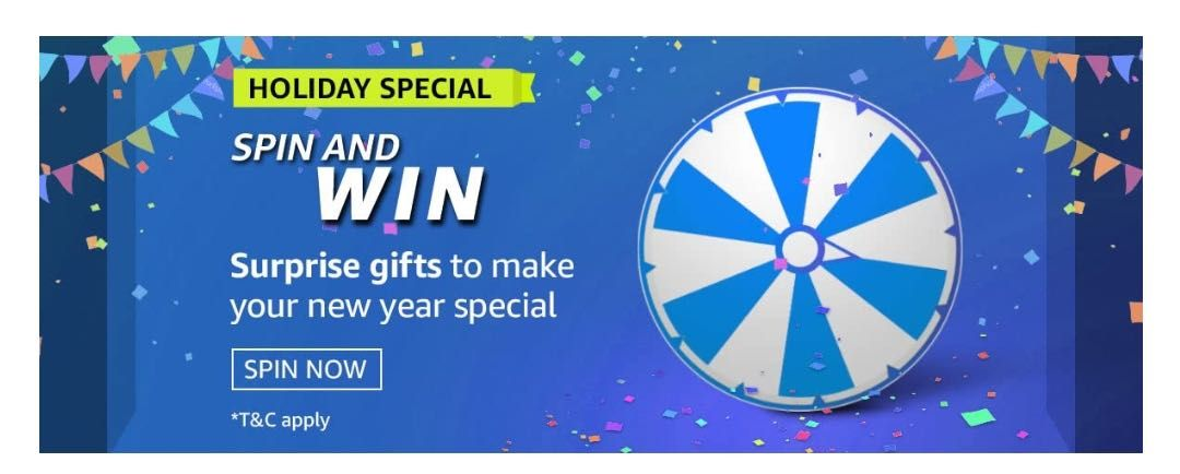 Amazon Holiday Special Spin and Win