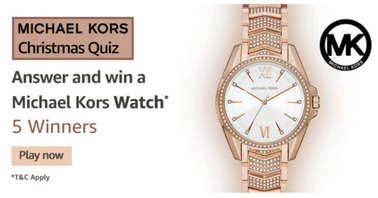 Amazon Michael Kors Christmas Quiz