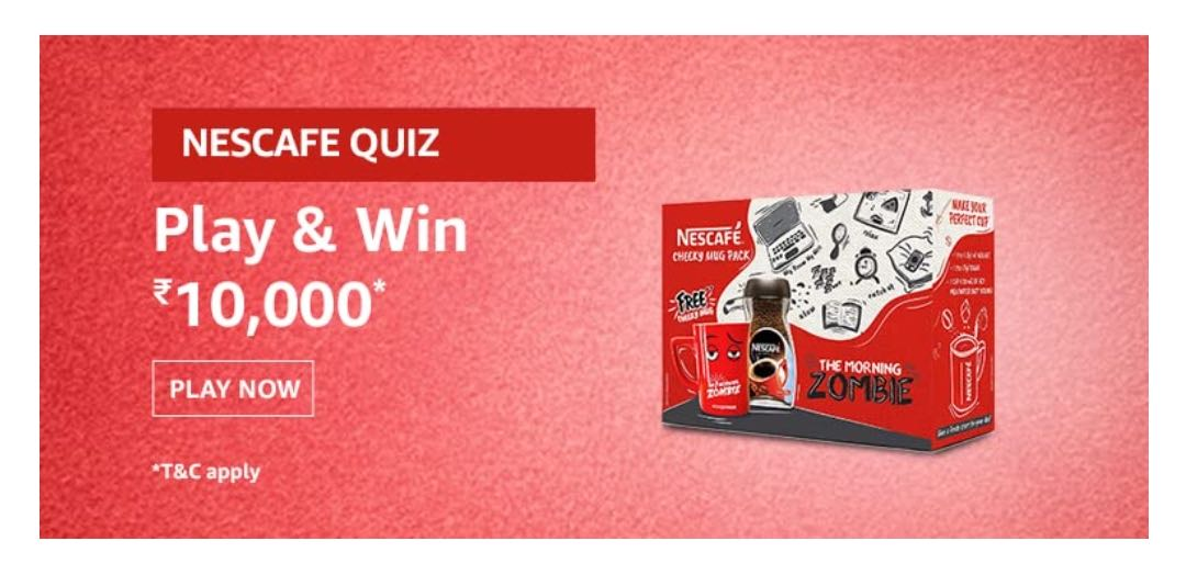 Amazon Nescafe cheeky mugs Quiz