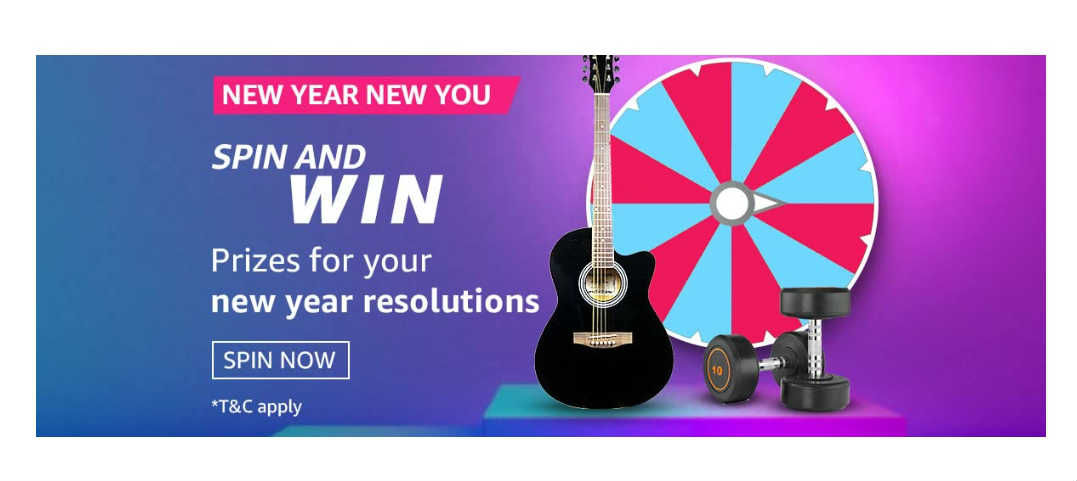 Amazon New Year New You Quiz