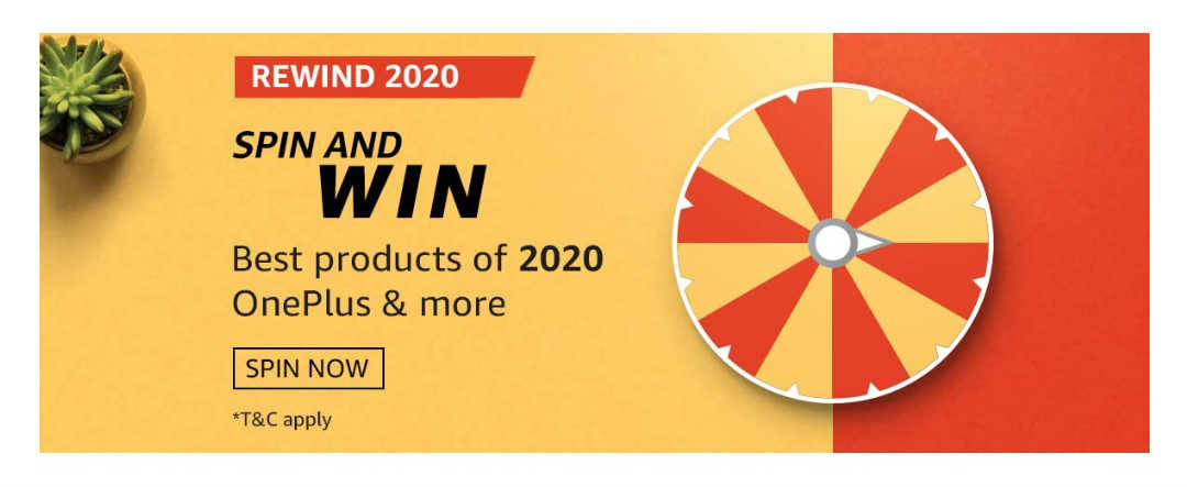Amazon Rewind 2020 Spin and Win