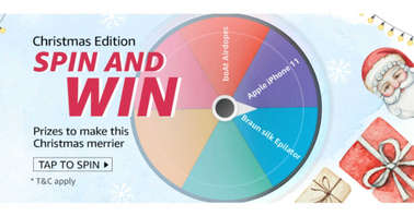 Amazon Spin and Win Christmas Edition