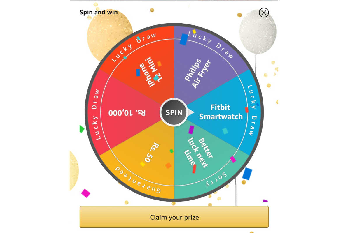 Amazon Spin and Win Special Edition