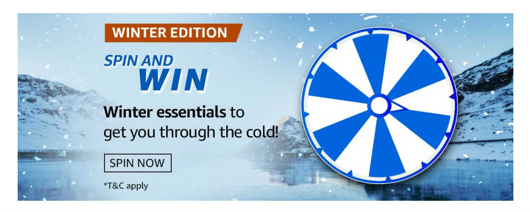 Amazon Spin and Win Winter Edition