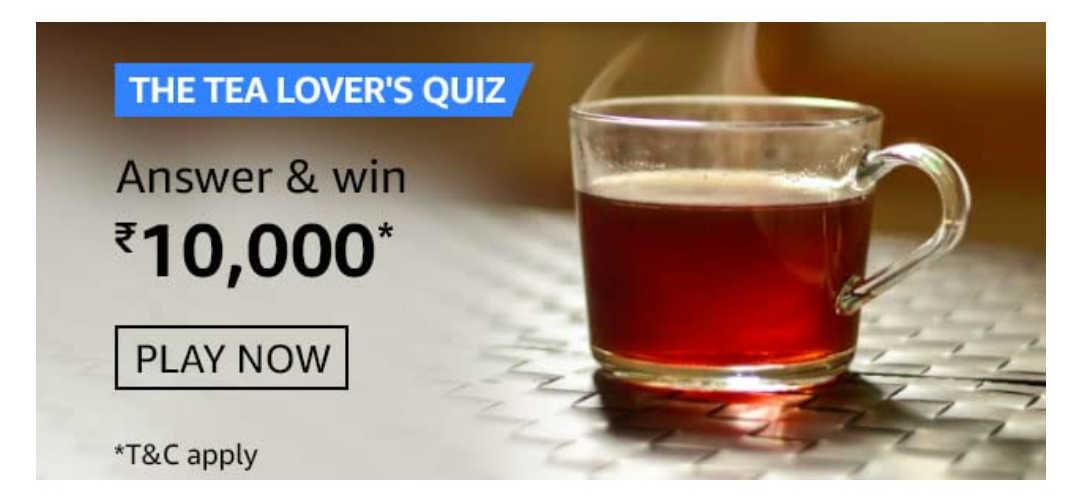 Amazon The Tea Lovers Quiz