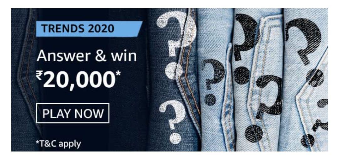 Amazon Trends 2020 Quiz