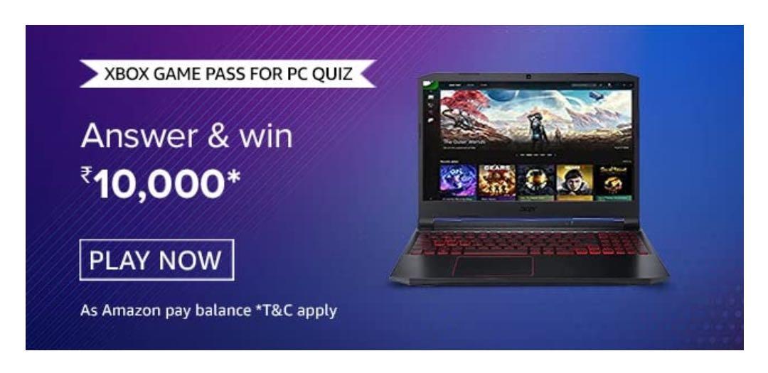 Amazon Xbox Game Pass for PC Quiz