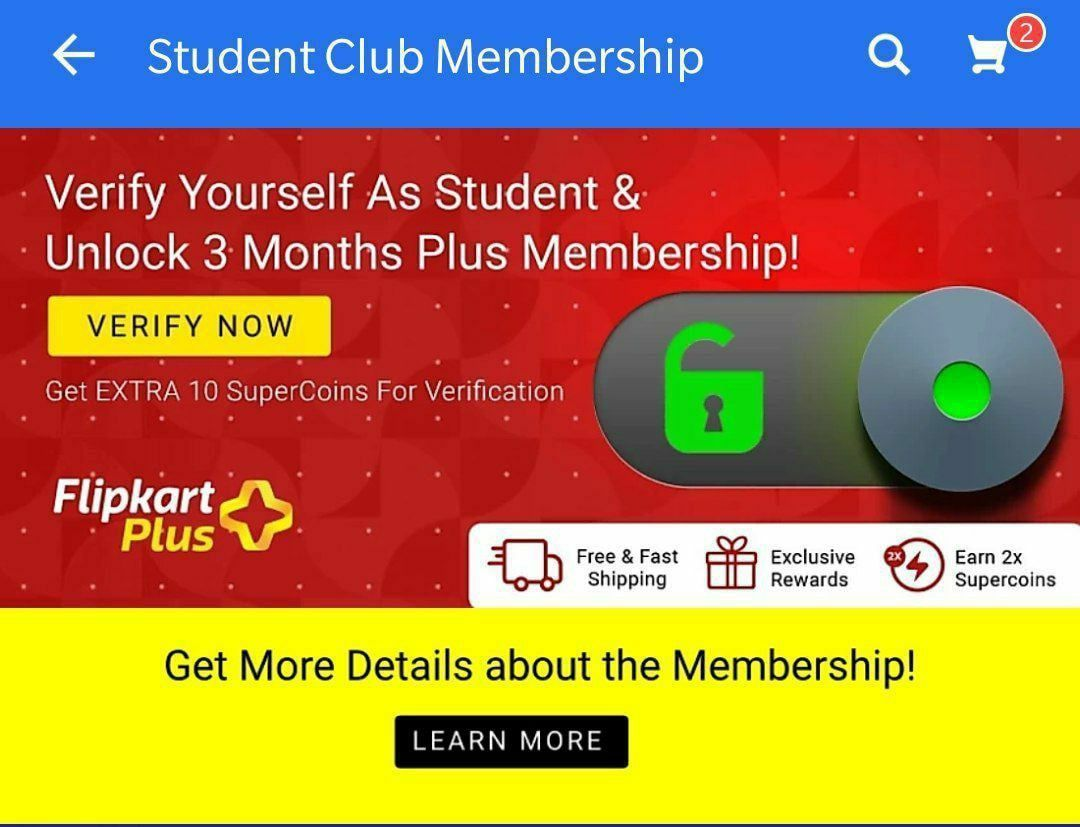 Flipkart Student Club Membership offers three months of free Plus subscription
