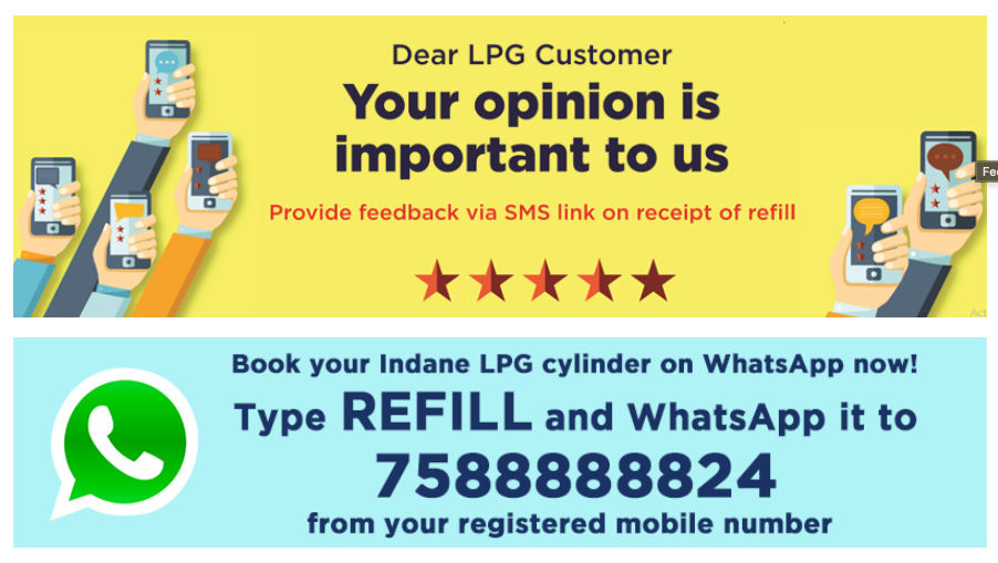Indane customers can now book LPG cylinders through WhatsApp