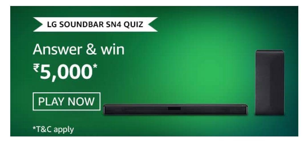 Amazon LG Soundbar SN4 Quiz