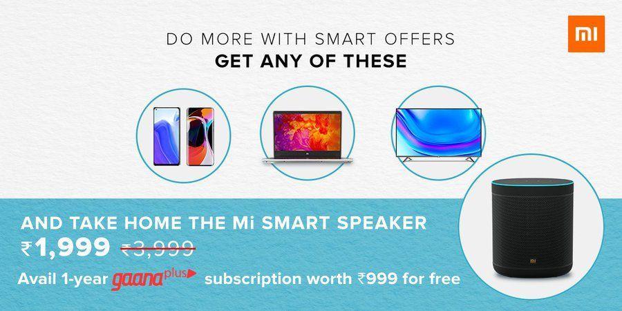 Xiaomi Mi Smart Speaker Rs 1,999 discount offer