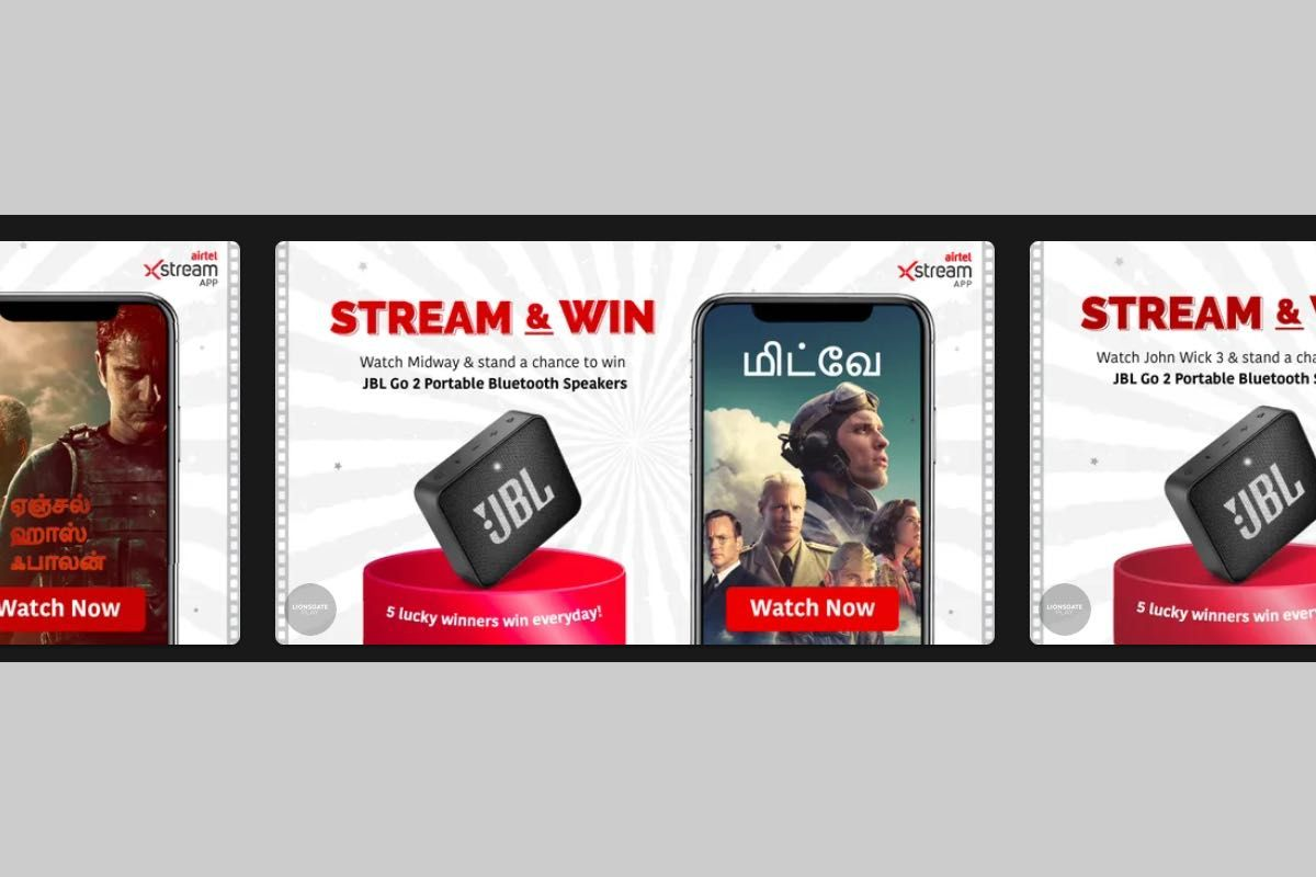 Airtel Xstream Stream and Win offer