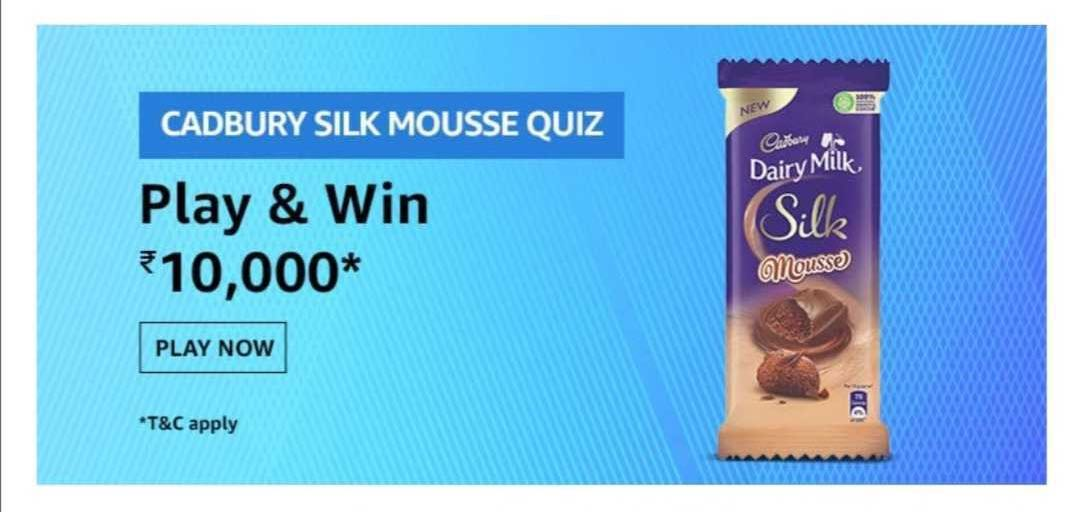 Amazon Cadbury Silk Mousse Quiz