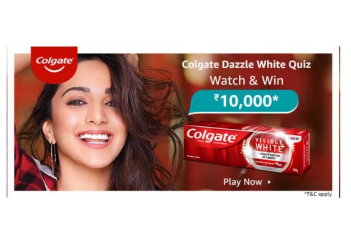 Amazon Colgate Dazzle White Quiz