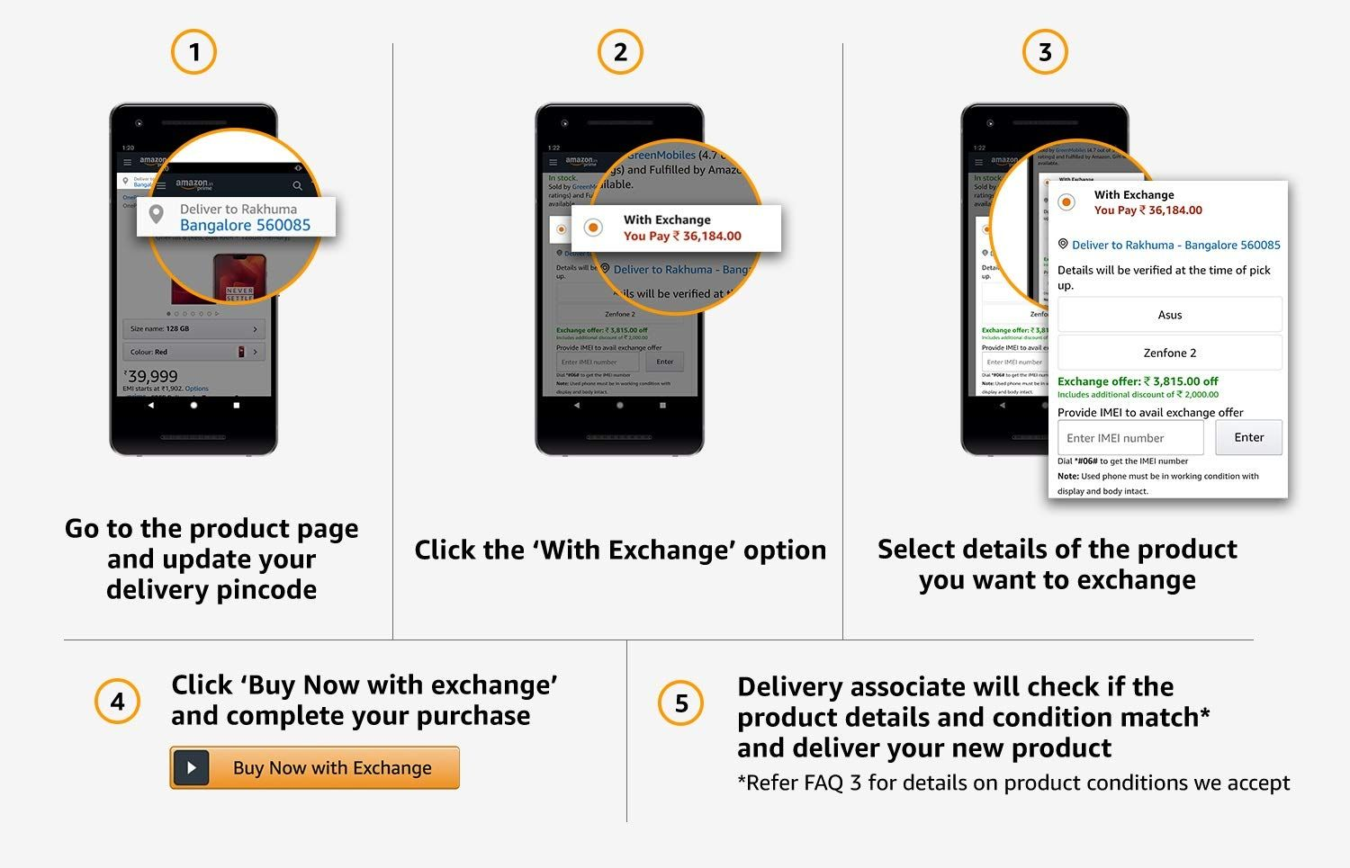 The process to avail Amazon Exchange Offer is pretty simple
