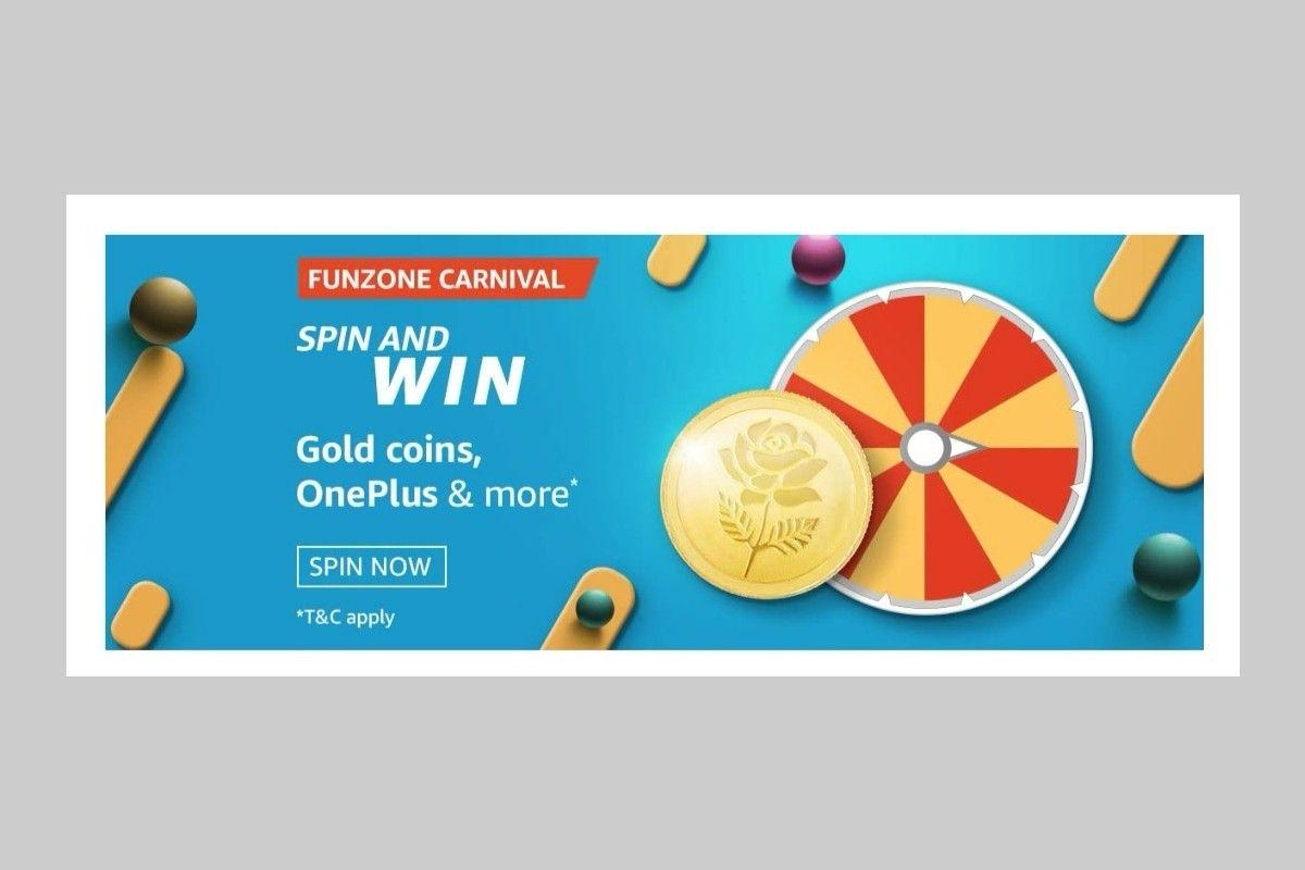 Amazon Funzone Carnival Spin and Win Quiz