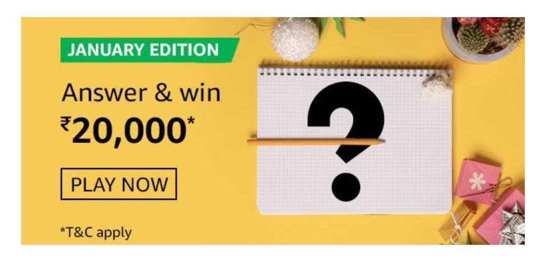 Amazon January Edition Quiz